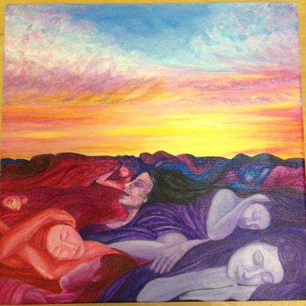 sleeping women