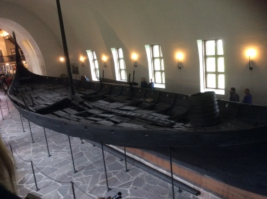 Overhead shot of The Oseberg Ship