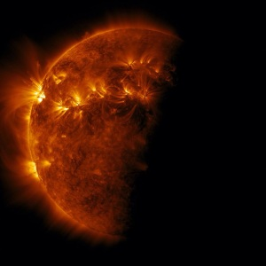 Ginormous solar flares.