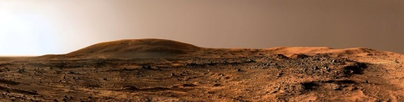 Calm day on Mars overlooking Husband Hill, which was named after Commander Rick Husband. He was the pilot of Colombia Space Shuttle which disintegrated on re-entry in 2003.