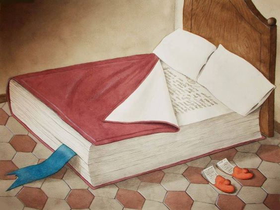 book bed image