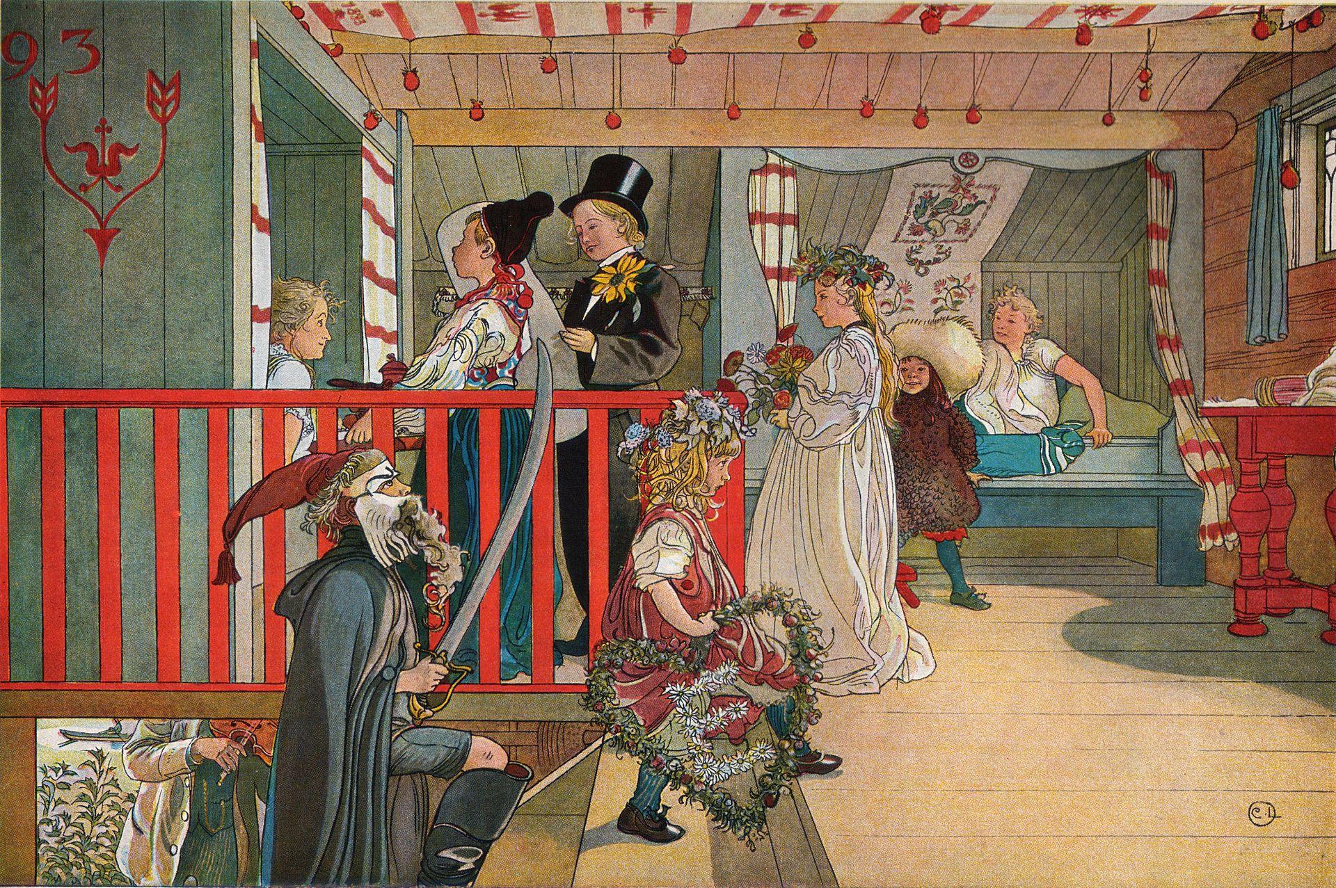 Namnsdag_på_härbret_av_Carl_Larsson_1898