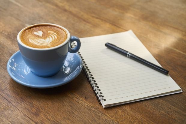 Notebook, Pen & Coffee