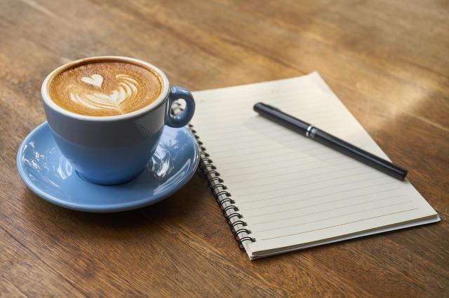Notebook, Pen & Coffee